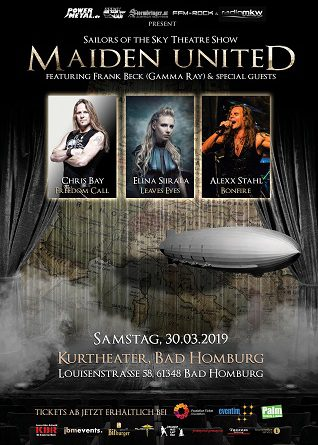 "Maiden United & Special Guests – ""Sailors of the Sky Theatershow"" exklusiv am 30.03.2019 im Kurtheater Bad Homburg"
