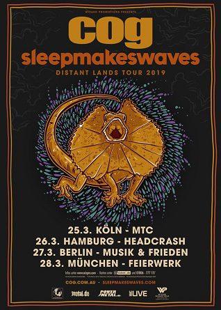 """Die Australischen Alternative-Rocker COG & Sleepmakeswaves gehen gemeinsam auf """"Distant Lands"""" Tour 2019"""