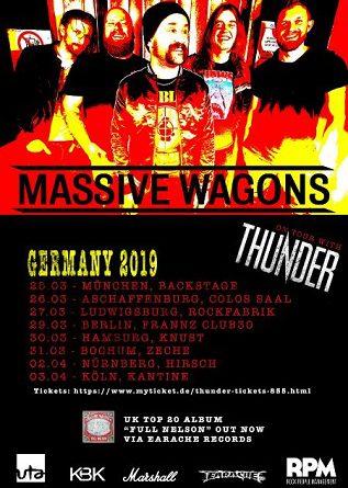 Massive Wagons zusammen mit Thunder auf Tournee