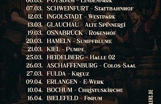 "FIDDLER'S GREEN – Neue  ""Acoustic Pub Crawl"" Tournee – Termine"