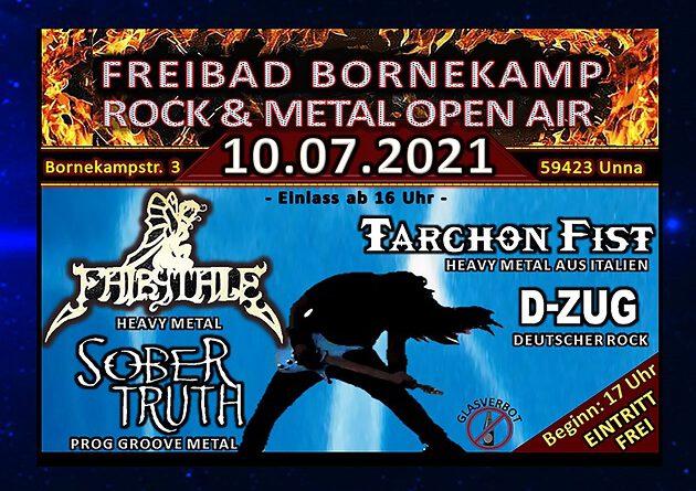 Es geht langsam wieder los … LIVE / Open Air -> Das Freibad Bornekamp Rock & Metal Open Air am Samstag, 10.07.2021