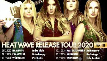 """THUNDERMOTHER verschieben ihre November-Konzerte der """"HEAT WAVE Release Tour Part III"""" auf Dezember 2020"""